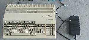 Commodore Amiga A500 Plus Computer, other hardware and Software install disks
