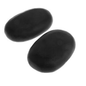 2x Hot Massage Stone Set Heater/Cold Natural Basalt Warmer Rock Kit 11x7 cm