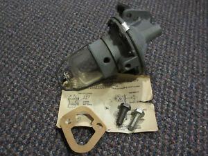 40801 NOS Mechanical Fuel Pump Glass Bowl - M3528 - 55-64 Ford Edsel Mercury V8