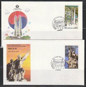 Korea   1987   Sc # 1497-98   FDC   (cv0065)