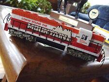 "Model train Tyco, Rocky Mountain Line locomotive 8"" long"