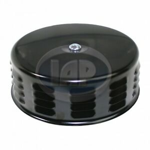 "VW BLACK AIR CLEANER w/ LOUVERS 5-3/8"" DIAMETER, 2"" NECK"