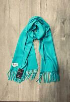 100% Pure Cashmere Scarf | Johnstons of Elgin | Made in Scotland | Bright Green