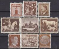Third Reich 9 MNH Nazi Swastika / Hitler Stamps!!  Combined Shipping!!