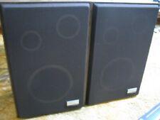 Vintage Zenith Allegro 2000 Speaker System 8 Ohms Floor Brown Wood - Pair NICE