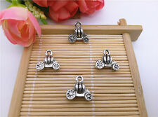Wholesale 8pcs Tibet Silver Pumpkin Carriage Charm Pendant Beaded Jewelry DIY 19
