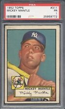 1952 Topps #311 Mickey Mantle PSA 1...LOOKS LIKE PSA 5 with damage on back only!