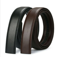 1/2XMens Leather Belt Strap Ratchet Automatic Waistband No Buckle only Strap NEW