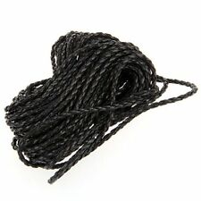 9m Black Braided Leather Necklace Cord String DIY 3mm HOT