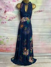 MONSOON JASMINE FULL LENGTH ENCHANTED BLUE FLORAL  MAXI DRESS SIZE 14