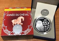 France 2014 Anne Cheval 10 euro Silver Proof - Francia € Horse Lunar argent