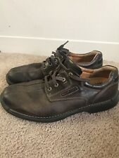 Mens Ecco Brown Leather Shoes Outdoor Oxfords 47 US 13 $150+