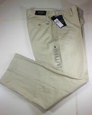 Men's new Polo Ralph Lauren Straight Fit Flat Chino Pants  Lt Tan 33 x 30 $89.99