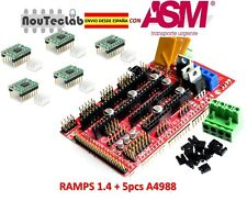 RAMPS 1.4 Control Panel Reprap + 5pcs A4988 Stepper Motor Drive