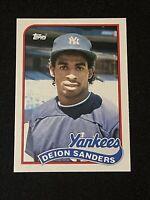 🔥FLAWLESS🔥 1989 Topps TRADED Baseball DEION SANDERS ROOKIE, Braves Yankees HOF
