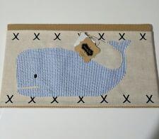 Set of 2 Mud Pie Whale Pillow Wrap beach nautical bedroom baby nursery