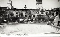 Vtg 1920's RPPC Swimming Pool at Mission Inn, Riverside California CA Postcard b