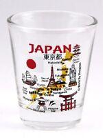 JAPAN LANDMARKS AND ICONS COLLAGE SHOT GLASS SHOTGLASS