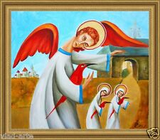 Painting Original Oil on canvas Fine contemporary Art angels postimpressionism