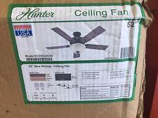 """Hunter Fan 52"""" Traditional Ceiling Fan in New Bronze Swirled Marble Light Kit"""