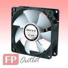 GELID SILENT 8 cm TC 80mm Temperature Control Sensor Rubber Mount PC Case Fan