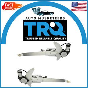 TRQ Power Window Regulators w/ Motors Pair Set for Ford F-Series Pickup Truck