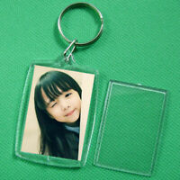 Transparent Acrylic Blank insert Po Picture Frame-Keychain H2C2