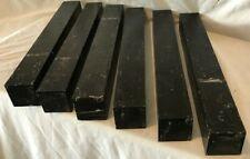 6 Gabon Ebony Lumber 1.5x1.5x12 Woodworking Ebony Wood Furnituresl Handles Cues