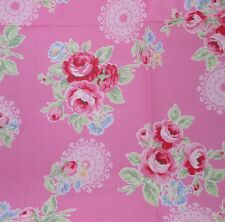 Red Roses Pink Flower Sugar 2014 Lecien Quilt Fabric by the 1/2 yd
