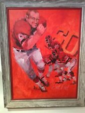 """Wayland Moore original Oil Painting """"Big Red"""" Tommy Nobis, NFL Falcons 38""""x 48"""""""