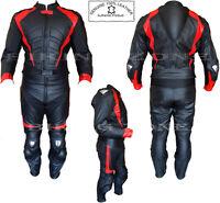 RED HAWK MENS APPROVED MOTORBIKE / MOTORCYCLE BLACK LEATHER SUIT / JACKET
