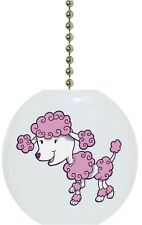 Pink Poodle Animal Solid CERAMIC Ceiling Fan Light Lamp Pull