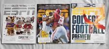 ESPN MAGAZINE COLLEGE FOOTBALL LOT OF 3 ALABAMA LSU FOOTBALL PREVIEW