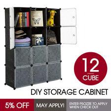 DIY 12 Cube Storage Cupboard Cabinet Wardrobe Shoe Rack Toy Book Shelf AU Stock