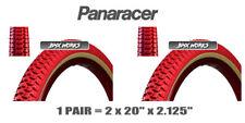 "Panaracer NTKK Snakebelly Tyres Tires Red 2 x 20"" x 2.125"" Old School BMX Style"
