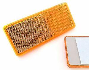 Rechteckige Reflektoren - selbstklebend - für Anhänger - Orange - 90x40mm - 2 St