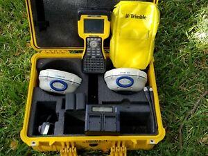 Trimble Dual R6 Model 2 GPS Glonass RTK 450-470MHz Base & Rover kit w/ TSC2