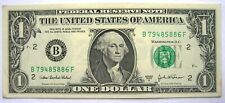 US 1 DOLLAR NOTE SERIES 2003 A Note # B 79485886 F