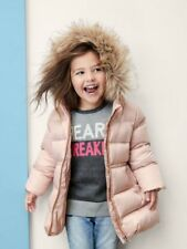 Gap baby Warmest Down Puffer Jacket, Sz 18-24 Months Pink Champagne