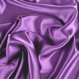 """CHARMEUSE SOLID FABRIC SHINY BRIDAL SATIN DRESSES WEDDING SEWING 60""""BY THE YARD"""
