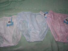 3 pairs Sheer colors Nylon Bikini Panties  5 - made in USA - NWT