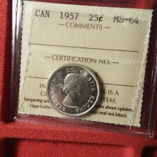 1957 25 Cents ICCS MS 64