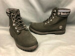 "Timberland Women's 6"" Premium Waterproof Boots Black Size 8.5 DISPLAY MODEL!"