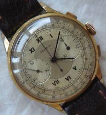 Sombol Big chronograph mens wristwatch gold filled case caliber Landeron 38 mm.