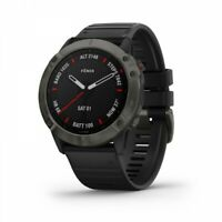 Garmin fenix 6X Sapphire GPS Watch Carbon Gray DLC with Black Band 010-02157-10