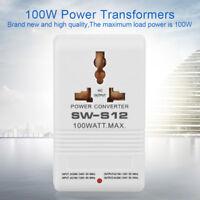 100W 110V/120V to 220V/240V Step-Up&Down Voltage Converter Transformer UK