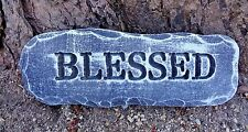 """Plastic mold Blessed plaster concrete mould 10"""" x 4"""" x .75"""" thick"""