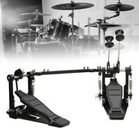 Double Bass Drum Pedal Kick Twin Dual Chain Drive Percussion Aluminum Alloy ❤