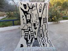 ben ourain rug Moroccan handmade wool berber vintage rug carpet azilal rug