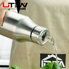 For Kitchen Stainless Steel Oil Can Soysauce Pouring Bottle Olive Oil Drops Pot
